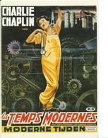 ///  AFFICHE SUR CARTE     (  LES TEMPS MODERNES ) - Posters On Cards