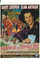 ///  AFFICHE SUR CARTE     (  UNE  AVENTURE DE BUFFALO BILL ) - Posters On Cards