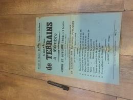 MEMBRE 1932 Location De Terrains - Affiches
