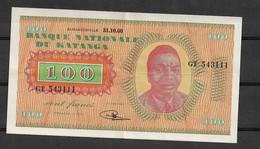 Katanga Congo Kongo 100 Fr 31-10-.60 Tschombe Rare XF - Billets