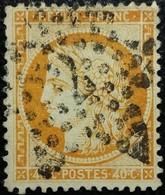 FRANCE Y&T N°38 Cérès 40c Orange. Oblitéré étoile De Paris N°7 - 1870 Siege Of Paris