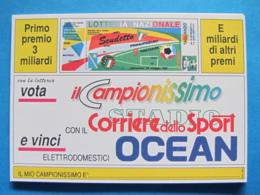 CARTOLINA LOTTERIA NAZIONALE DELLO SCUDETTO 1991 - Biglietti Della Lotteria