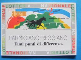 CARTOLINA LOTTERIA NAZIONALE AGNANO 1991 - Biglietti Della Lotteria