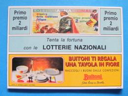 CARTOLINA LOTTERIA NAZIONALE FOLIGNO GIOSTRA DELLA QUINTANA 1992 - Biglietti Della Lotteria