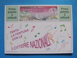CARTOLINA LOTTERIA NAZIONALE GERACE MUSICARCHITETTURA 1994 - Biglietti Della Lotteria