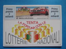 CARTOLINA LOTTERIA NAZIONALE RALLY VALLI OSSOLANE 1994 - Biglietti Della Lotteria