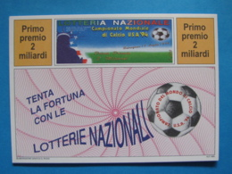 CARTOLINA LOTTERIA NAZIONALE MONDIALI DI CALCIO USA 94 1994 - Biglietti Della Lotteria