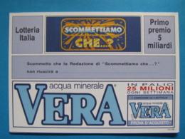 CARTOLINA LOTTERIA NAZIONALE ITALIA SCOMETTIAMO CHE 1992 - Biglietti Della Lotteria