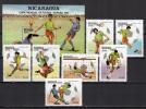 Nicaragua 1982 Football Soccer World Cup Set Of 7 + S/s MNH - World Cup