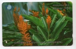 JAMAIQUE REF MV CARDS JAM-17B 200$ Annee 1994 CN : 17JAMB Ginger Lily - Jamaica