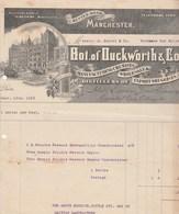 Royaume Uni Facture Illustrée 14/12/1916 DUCKWORTH Distillers Huile Essentielle De Fruits MANCHESTER - Royaume-Uni