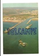 France. Aude. Port-la-Nouvelle. Le Golfe Du Lion. Vue Aérienne Au-dessus Du Canal Et Ses Jetées. 1974 - Port La Nouvelle