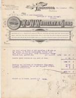 Royaume Uni Facture Illustrée 7/11/1916 W WHITELEY Machines Pour Textile LOCKWOOD - Royaume-Uni