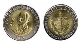 Cuba 2016-17 $5 Pesos Bimetalic Coin Antonio Maceo UNC - Cuba