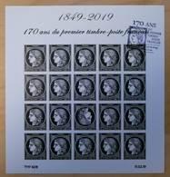 FRANCE 2019 BLOC FEUILLET CÉRÈS 1849 - 2019 170 ANS DU PREMIER TIMBRE FRANÇAIS NON DENTELÉ - OBLITERE 1er JOUR 14.03.19 - Unused Stamps