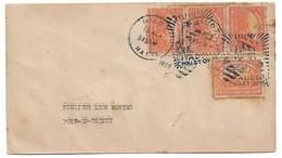 (C03) - HAITI - Y&T 248 X4 - SCOTT 310 X4 -COVER MILOT => P AU P 1929 FANCY CANCELLATION CITADELLE CHRISTOPHE - Haïti