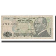 Billet, Turquie, 10 Lira, 1970, 1970-01-14, KM:192, TB - Turquie