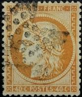 FRANCE Y&T N°38 Cérès 40c Orange. Oblitéré étoile De Paris N°5 - 1870 Siege Of Paris