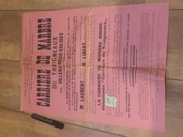 VILLERS DEUX ÉGLISES Carrière De Marbre Du Traignaux 1934 - Affiches