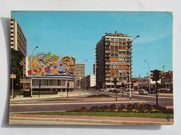 C.P.A. : 95 ARGENTEUIL : L'avenue Gabriel Péri Et Le Centre Culturel, Fresque, Station ESSO, Timbre En 1972 - Argenteuil