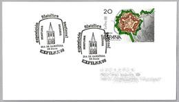 EXFILNA'88. IGLESIA DE SANTA MARIA LA REAL - SANGÜESA. Pamplona, Navarra, 1988 - Iglesias Y Catedrales
