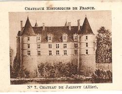 Image Chocolat Casino Série Châteaux Historiques De France N°7 Château De Jaligny (Allier) - Chocolat
