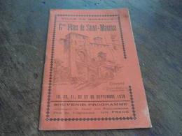 09 MIREPOIX  Programme 1936  Grandes Fêtes De Saint Maurice. - Programmes