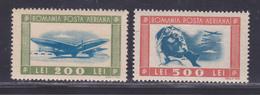 ROUMANIE AERIENS N°   34 & 35 ** MNH Neufs Sans Charnière, B/TB (D8705) Pilote Et Avions - 1946 - Nuevos