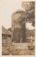 Postcard Grain Hopper / Silo Farming Agricultural Scene Men On Ladders Look At Camera East Anglia UK ? My Ref  B12898 - Farms