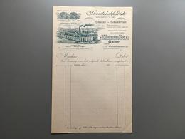 GAND - GENT - Factuur - Mortier - Tabakfabriek - Sigaren - Sigaretten - Sint-Margrietstraat - Gent