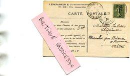 ORLEANS - Carte Commerciale De LEVAVASSEUR Et Cie Horticulteurs Illustré Rose Pernetiana Madame Ed Herriot - Orleans