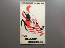 DENDERMONDE - Ommegang Ros Beiaard - Programmaboekje 1975 - Dendermonde