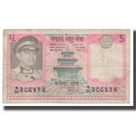 Billet, Népal, 5 Rupees, KM:23a, TB+ - Nepal