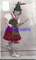 108879 REAL PHOTO COSTUMES DESGUISE CARNIVAL GIRL DUTCH NO POSTAL POSTCARD - Photographs