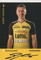 CYCLISME TOUR DE FRANCE   AUTOGRAPHE  ROBERT WAGNER - Cyclisme