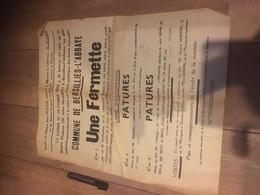BERSILLIES L ABBAYE Vente D Une Fermette Et De Pâture Rue De Montignies Et Lieu Dit Bustiau Et Village - Posters