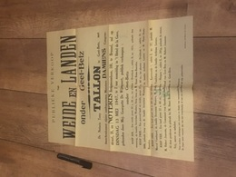 WEIDE EN LANDEN ONDER GEET-BETZ 1947 - Affiches