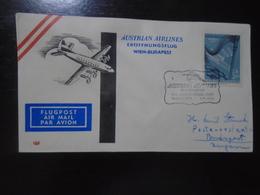 WIEN/VIENNA - BUDAPEST - ISTANBUL - BEIRUT - AUSTRIAN AIRLINES - AUA - 8.8.1960 - First Flight Covers
