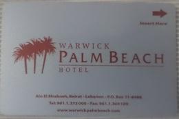 LEBANON - Palm Beach Hotel Keycard - Cartes D'hotel