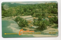 SAINTE LUCIE REF MV CARDS STL-14A Année 1994 10$ 14CSLA Coastline - Saint Lucia