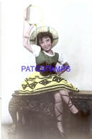 108887 REAL PHOTO COSTUMES DESGUISE CARNIVAL GYPSY WITH TAMBOURINE NO POSTAL POSTCARD - Photographs