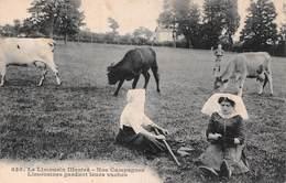 Limousin (87) - Nos Campagnes - Limousines Gardant Leurs Vaches - Scènes Et Types - France