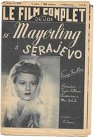 "FILM COMPLET ""EDWIGE FEUILLERE"" Dans MAYERLING à SERAJEVO De MAX OPHULS 1940  G.DORZIAT/J.LODGE/A.CLARION/WORMS - Books, Magazines, Comics"