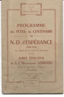 ST BRIEUC - PROGRAMME Des FÊTES Du CENTENAIRE De N.D.D'ESPERANCE - 25 Au 31 Mai 1948 - A.Prud'Homme - Pub Commerciales - Bretagne