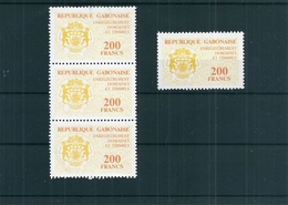 Lot 4 Timbres Fiscaux Gabon , Neufs Sans Charnière - Gabon (1960-...)