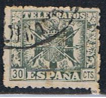 (3 E 149) ESPAÑA  // EDIFIL 79 // Y&T  82 // 1940-43 - Télégraphe