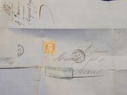 Napoleon No 13  Sur Lettre - 1849-1850 Ceres