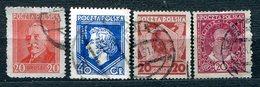 POLOGNE - Y&T 330 à 333 (série Complète) (20% De La Cote) - 1919-1939 Republic