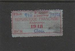 FISCAL - FISCAUX - TIMBRE DE VIANDE - A6 - 1948 - Fiscali