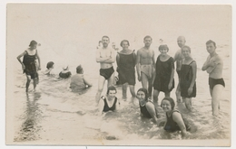REAL PHOTO, Naked Trunks Men Guys Swimsuit Women On Beach,Hommes Nu Et Femmes Sur Plage, Old Photo - Anonymous Persons